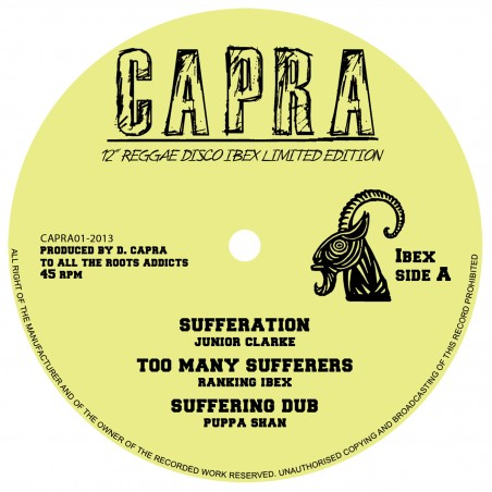 "Junior Clarke / U-Rie / Capra Dread / Papa Rizla - Sufferation / Jump & Twist / Dance Floor Elevator (12"" Capra)"