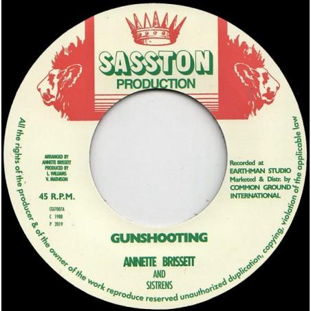 """Annette Brissett & Sistrens – Gunshooting (7"""" Sasston Production)"""