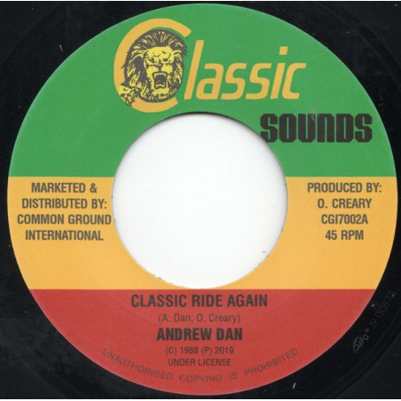 "Andrew Dan ‎– Classic Rides Again (7"" Classic Sounds)"