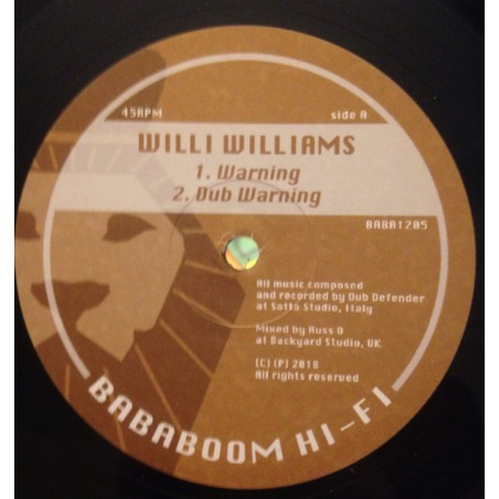"Willi Williams / Dub Defender / Russ Disciples / Dougie Conscious - Warning / Still Waters (12"" Bababoom Hi Fi)"