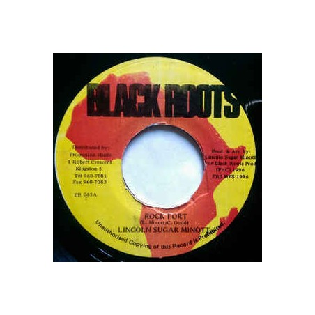 "Lincoln Sugar Minott ‎– Rock Fort (7"" Black Roots)"