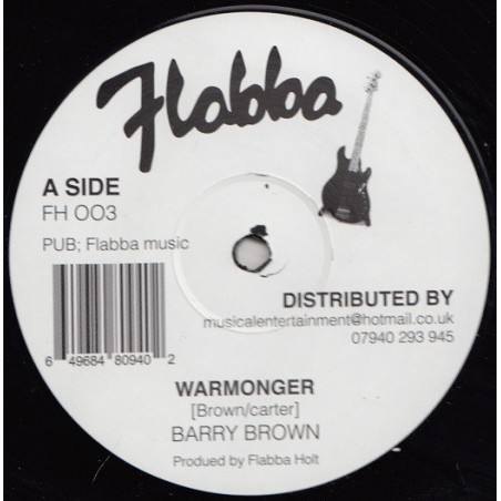 "Barry Brown – Warmonger (12"" Flabba)"