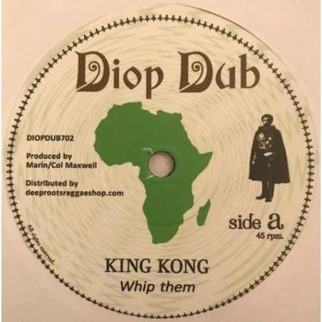 "King Kong ‎– Whip Them (7"" Diop Dub)"