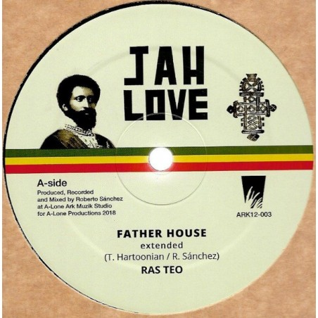 "Ras Teo ‎– Father House / In My Vision (12"" Jah Love)"