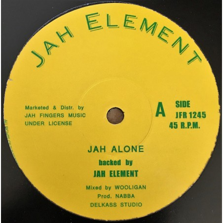 "Jah Element ‎– Jah Alone / Summer Time (12"" Jah Element)"