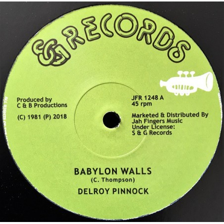 "Delroy Pinnock, Dickey Dread, Mikey Ranks ‎– Babylon Walls / I Want To Be (12"" S & G)"