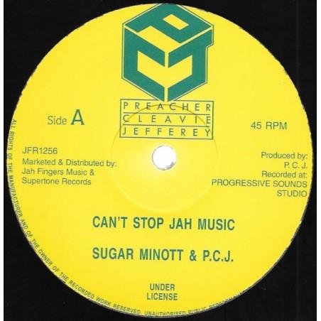 "Sugar Minott & P.C.J. – Can't Stop Jah Music (12"" Preacher Cleavie Jefferey)"