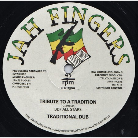 "BDF All Stars ‎– Tribute To A Tradition (12"" Jah Fingers)"