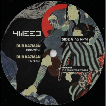 "Dub Kazman / Infiammati Dub ‎– Inna West / Stepper March (12"" 4Weed)"