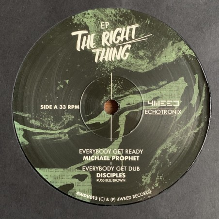 """Michael Prophet / Johnny Clarke / Disciples – The Right Thing EP (12"""" 4Weed)"""