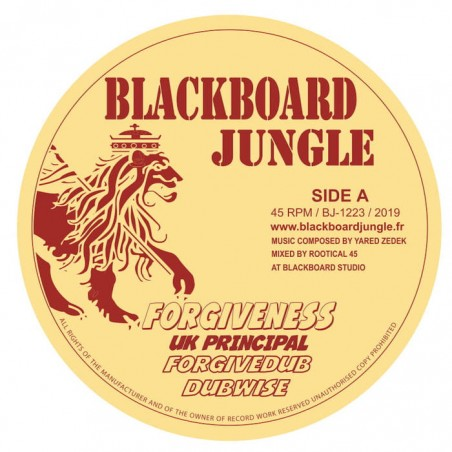 "UK Principal / Color Red / Guru Pope - Forgiveness / One Law / Let Them Pay (12"" Blackboard Jungle)"