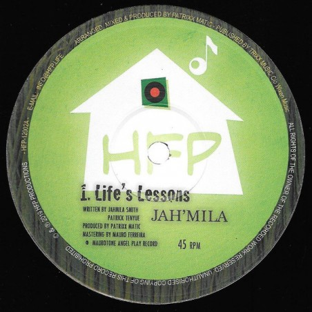 "Jah´Mila – Life´s Lessons (10"" HFP)"