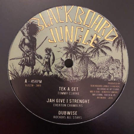 "Tommy Clarke / Everton Chambers / Donovan King Jay – Tek A Set / Jah Give I Strenght / Signs (12"" Blackboard Jungle)"