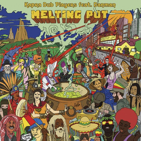 "Kapra Dub Players feat. Danman / Dennis Capra / Classy Horns - Melting Pot / Sun Come Down (12"" Capra Records)"