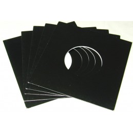 "7"" Black Cardboard Sleeve..."