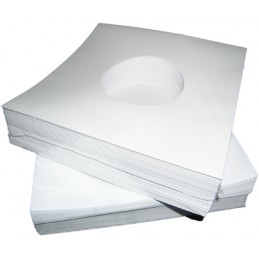 "7"" White Paper Sleeve (x1pcs)"