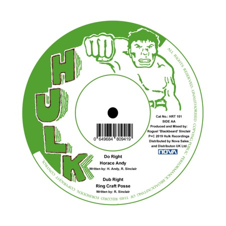 """Horace Andy, The Ring Craft Posse – Set Me Free / Do The Right (12"""" Hulk)"""